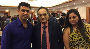WITH LEGENDARY ACTOR BISWAJEET CHATTERJEE DURING THE NIGHT OF INTERVIEW EVENT