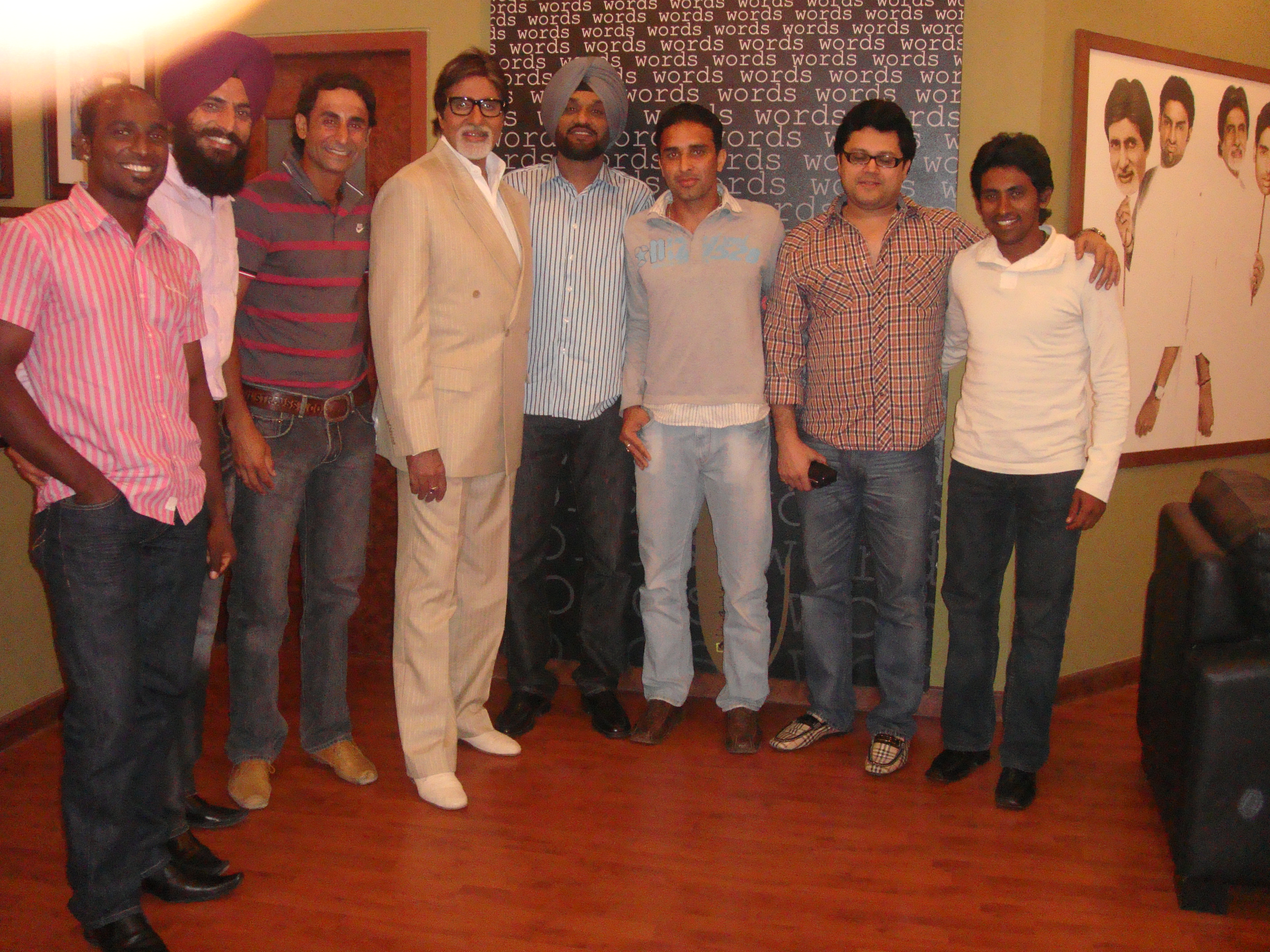 Indian Hockey Team with Amitji during Hockey Event