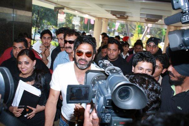 During Press Conference in 2008 with Suniel Shetty brand Ambassador